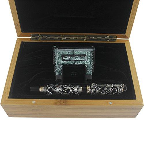 Zoohot Jinhao Penna stilografica cinese mestiere drago colletion solido classico stile niello Si Mu Ting Ding archaistic antico recipiente di cottura