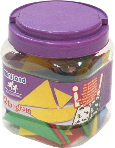 Imagen principal de Miniland 31727 - Bote con asa, set 12 tangram, 84 piezas