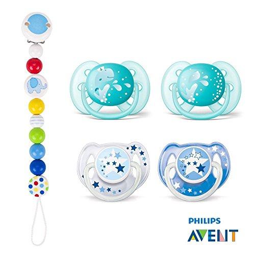 Philips AVENT Chupetes////6/ /16/Mo////Boy Mix////Juego De 6////Incluye aufsteckbarer Higiene Tapa