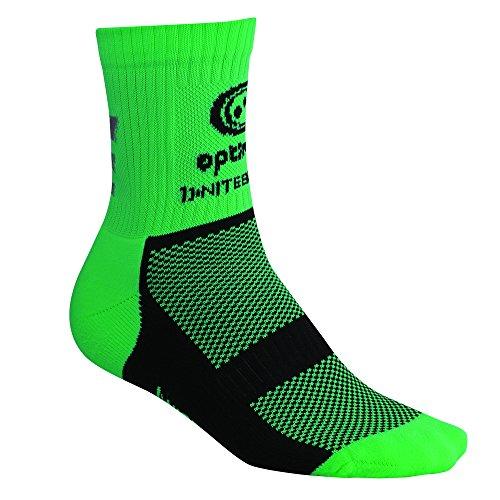 Optimum Men's Nitebrite Hi-Viz Winter Cycling Socks – Fluro Green, Size 7 – 11