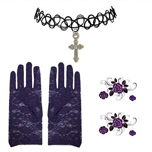 guanti-di-pizzo-gotico-viola-henne-cross-girocollo-piccolo-la-rosa-tatuaggio