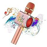Microphone Sans Fil Karaoké Portable Bluetooth avec 2 Haut-Parleur Bluetooth...