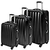 TecTake Polycarbonate Multilayer Set Lot de 3 valises Trolley Valise - avec Serrure...