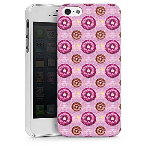 Apple iPhone X Silikon Hülle Case Schutzhülle Donut Party Pink Braun Hard Case weiß