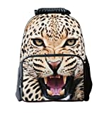 Keral Unisex Animal Travel Casual Sports Shoulder Backpack Yellow White
