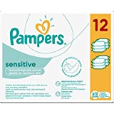 Pampers - Sensitive - Lingettes Bébé - Lot de 12 Paquets (x672 Lingettes)