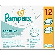 Pampers Feuchttücher Sensitive 2-Monatspack, 672 Tücher (12 x 56 Stück)