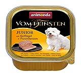 Animonda vom Feinsten Junior 82621 Geflügel+Putenherzen 22 x 150 g Schale - Hundefutter