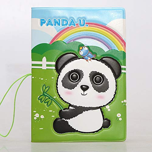 Panda Multi-Purpose Passport Holder Cover 3D Pattern Print Travel Wallet 6 * 4 Inch - Cover Panda Passport