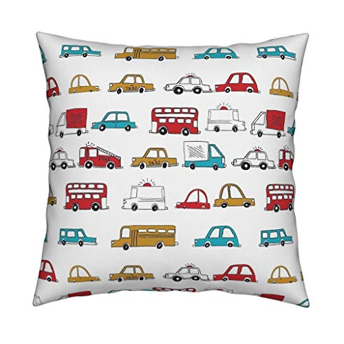 Illustration Cars Werfen Pillow Cars von Andrea Double Lauren Baby Boy Kinderkrippe 18x18 Square Throw Pillow -