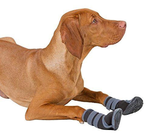 Kerbl 80608 Pfotenschutz für Hunde – Hundeschuhe XL – grau/schwarz - 3