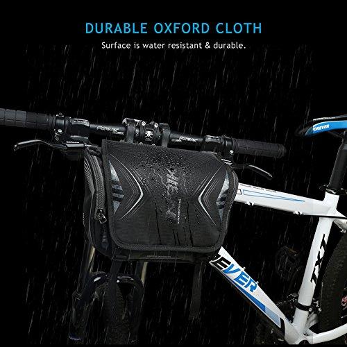 Inbike Wasserdicht Fahrrad Lenker Tasche & Schultertasche vorn Fahrradtasche Schwarz