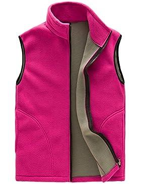 Zhhlaixing Unisex Soft Shell Fleece Body Warmer Vest Gilet Mens Womens Zipper Respirable Al aire libre Sports...