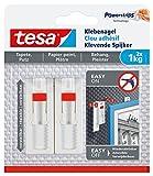 tesa® Verstellbarer Klebenagel für Tapeten und Putz, spurlos wiederablösbar, wiederverwendbar (1 kg / 5er Pack = 10 Nägel)