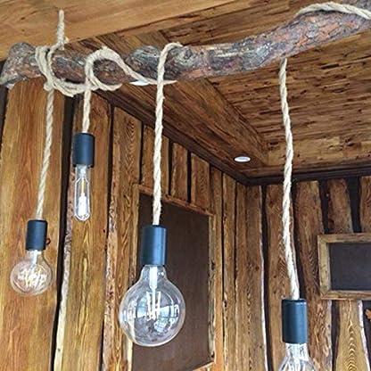 GreenSun LED Lighting cavo in tessuto per lampada 5 – 20 m 3 fili 0,75 mm2 Cavo elettrico in lino intrecciato rivestimento in tessuto cavo di alimentazione per lampada a sospensione DIY accessori lampada