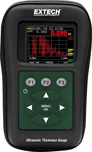 Extech TKG250 Registrador de datos/Medidor digital ultrasónico de espesor con forma de onda de color