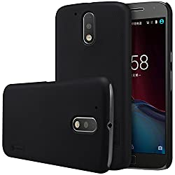 Nillkin Super Frosted Shield Hard Back Cover Case for Motorola Moto G4 Plus ( Black Color ), Free Screen guard