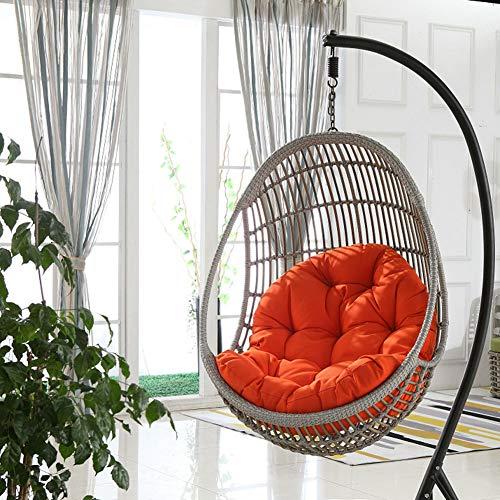 SXFYHXY Colgante de Huevo Columpios Cojines para sillas Patio Exterior al Aire Libre Patio Cómodo Relajante (Sin Cuna),Orange,86x120cm