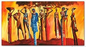 """Toile b, impression """"mia morro mASSAI paysage africain 80 cm x 40 cm 1 pièce montée sur châssis et cadre en bois grand format xXL grand modèle et économique plus favorable que à peinture l'huile photo poster affiche avec votre espace et mur, salle de séjour, bureau, cuisine, couloir"""