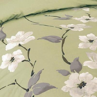 Just Contempo Oriental Floral Duvet Cover Set, Double, Blue
