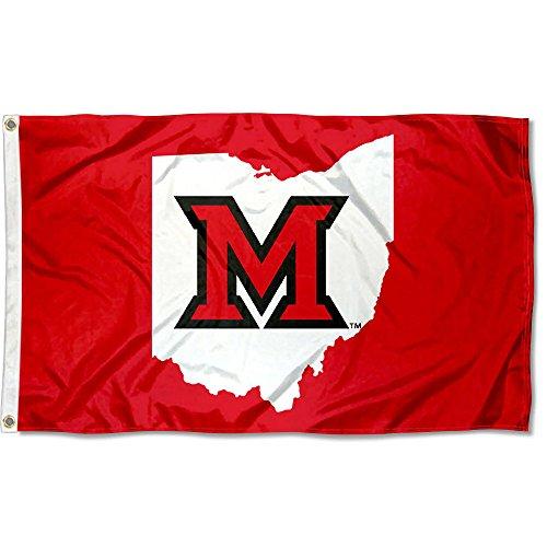 Miami Redhawks State Logo Flagge -