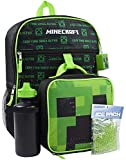 Minecraft Creeper 5 Piece Backpack Set Boîte à Lunch Bouteille d'eau Sac de Glace Squishy