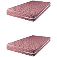 "Trendz Decor Cotton 100 TC Mattress Cover (36""X72""X6""_Maroon)"