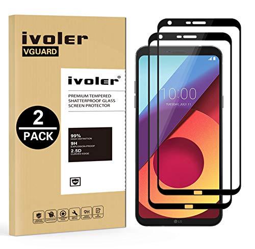 iVoler [2 Stücke] Panzerglas Schutzfolie für LG Q6 / LG Q6+ / LG Q6 Plus, [Volle Bedeckung] Panzerglasfolie foliefolie Hartglas Gehärtetem Glas DisplayPanzerglas
