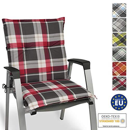 Beautissu cuscino per sedie da giardino sunny rk bordeaux 100x50x6cm - extra comfort - colori resistente ai raggi uv