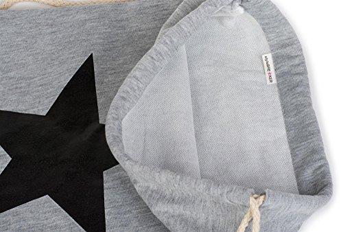 styleBREAKER zaino sportivo con stampa a stella, borsa sportiva, bauletto, unisex 02012088, colore:Turchese / Bianco Grigio scuro / Bianco