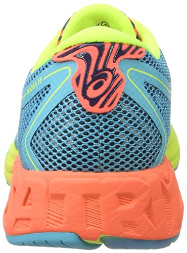 Asics Noosa Ff, Chaussures de Running Femme Multicolore (Aquarium/flash Coral/safety Yellow)