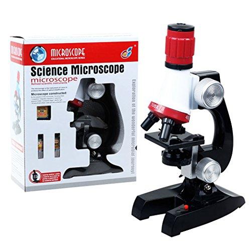 PHOEWON Kinder Mikroskop Scientific Mikroskop Spielzeug mit LED Beleuchtung 100x 400x 1200x Vergrößerung Wissenschaft Kinder Mikroskop Kit, Mikroskopset für Kinder, Schüler