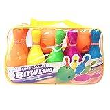 Bowling enfant - Foxom Jeu de Quilles plastique en Mousse, Set de Bowling Jouet intéressant pour enfant bebe-10 Bowlings 2 Boules à Frapper-Jeu De Plein Air
