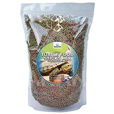 SAKANA Premium Turtle Sticks Mix High Protein Aquatic Terrapin Pet Food from SAKANA