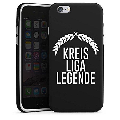 Apple iPhone X Silikon Hülle Case Schutzhülle Kreisliga Fußball Legende Silikon Case schwarz / weiß