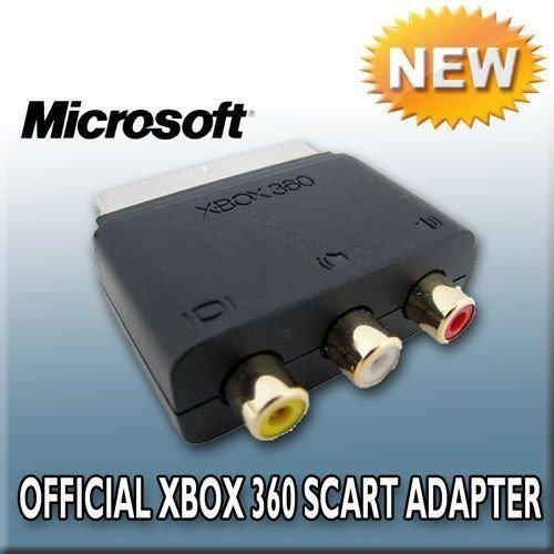 Original Microsoft Xbox RCA auf Scart AV Audio Video Block Adapter-3x RCA Cinch-Buchse auf Scart-Stecker