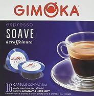 Gimoka Capsule Caffè Compatibili Lavazza a Modo Mio - Decaffeinato, 16 capsule