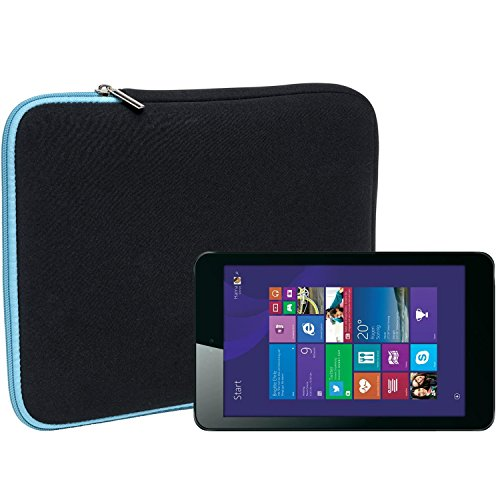 Slabo Tablet Tasche Schutzhülle für Odys WinTab 8 Hülle Etui Case Phablet aus Neopren – TÜRKIS/SCHWARZ