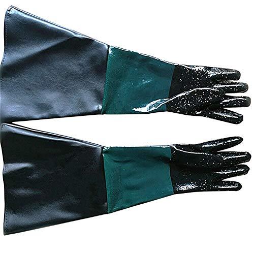 Chengyi sablage Machine spéciale Gants Gants sablage 60 cm en PVC doublé Gants de Protection