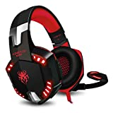 Kingtop Cuffie Gaming PS4 KG2000 Cuffie da Gaming con Microfono LED Luce Regolatore di...