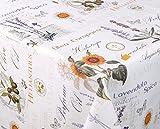Wachstuchtischdecke Tischdecke Wachstuch abwischbar, Reliefdruck Motiv Provence, Größe wählbar 260 x 140 cm