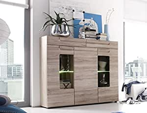 highboard sideboard kommode anrichte malea eiche san remo. Black Bedroom Furniture Sets. Home Design Ideas
