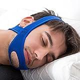 EinsAcc Schnarchstopper Kinnband Anti Schnarchband Anti Schnarchen Ruhiger Schlaf (blau)