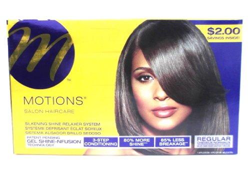 Silkening Shine Relaxer System (Motions Salon Haircare Relaxer REGULAR)