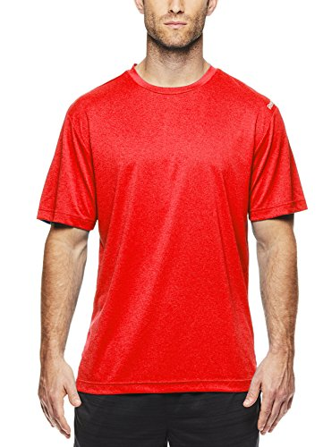 Reebok Men's Supersonic Crewneck Workout T-Shirt Designed With Performance Material - Coast Guard Orange, X-Large