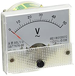 Ac 0–50 V Analog Nadel Rectangle Analog Panel Meter Voltmeter
