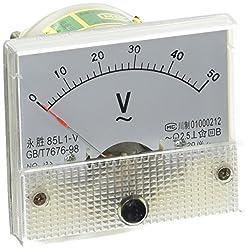 Ac 0–50V Analog Nadel Rectangle Analog Panel Meter Voltmeter