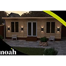 Noah - Cama de jardín de madera resistente, 10 x 25 cm, para jardín