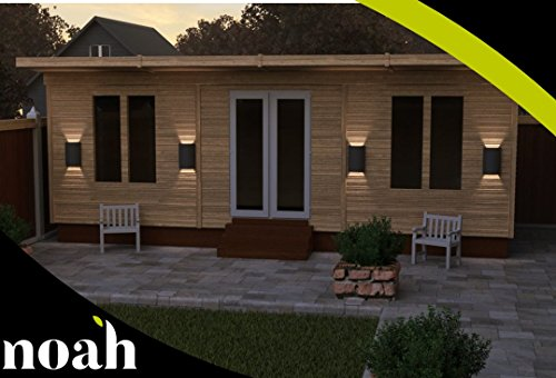 Noah Garden Rooms 10x10' Norton Log Cabin Heavy duty wooden garden shed/workshop