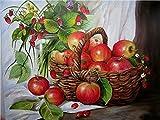 DIY Digitale Malerei Leinwand Ölgemälde Geschenk Für Erwachsene Kinder Malen Hauptdekorationen neuen Jahres Bürokunst Wohnzimmer Obstpflanze-A-Rahmenlos
